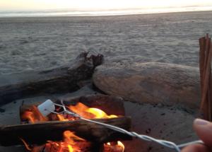 Beach Fire Cannon Beach