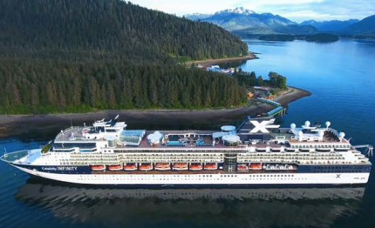 The Infinity docked in Ketchikan (photo by Celebrity)